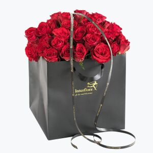 40 Red Roses In A Gift Bag